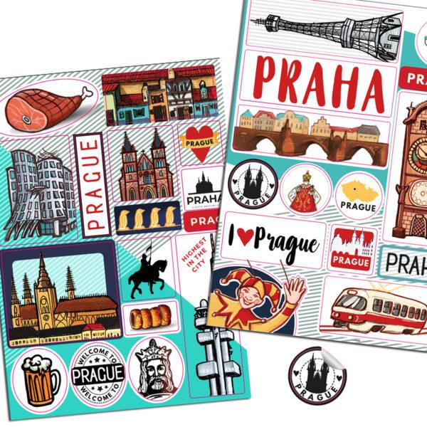 Samolepky Praha