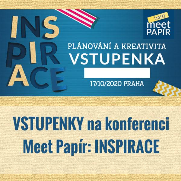 Meet Papír: INSPIRACE - vstupenky