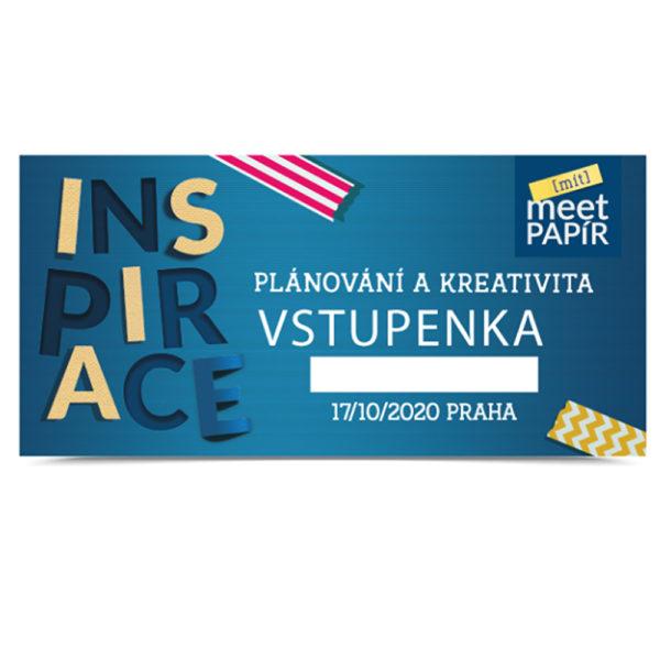 Vstupenka KLASIK  na  Meet Papír: INSPIRACE