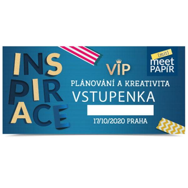 VIP vstupenka na Meet Papír: INSPIRACE